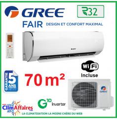 GREE Climatisation Inverter - Monosplit Mural - R32 - FAIR 24 (7.0 kW)