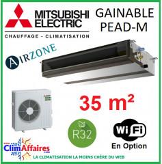 Mitsubishi Monosplit Gainable Essentiel - Haute Pression - R32 - PEAD-M35JA + SUZ-M35VA (3.6 kW)