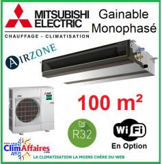 Mitsubishi Monosplit Gainable Essentiel - Haute Pression / Monophasé - R32 - PEAD-M100JA + PUZ-M100VKA (9.5 kW)