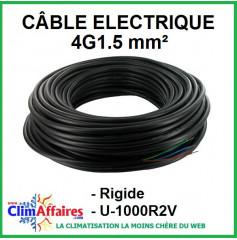 Câble électrique rigide U-1000R2V - 4G1.5 mm²