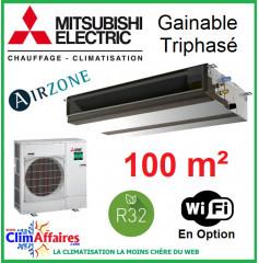 Mitsubishi Monosplit Gainable Essentiel - Haute Pression / Triphasé - R32 - PEAD-M100JA + PUZ-M100YKA (9.5 kW)