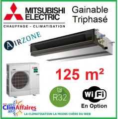 Mitsubishi Monosplit Gainable Essentiel - Haute Pression / Triphasé - R32 - PEAD-M125JA + PUZ-M125YKA (12.1 kW)