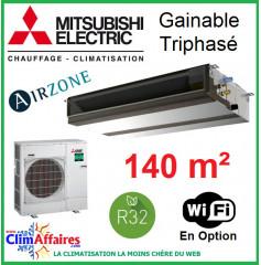 Mitsubishi Monosplit Gainable Essentiel - Haute Pression / Triphasé - R32 - PEAD-M140JA + PUZ-M140YKA (13.4 kW)