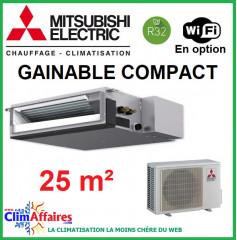 Climatisation Mitsubishi Monosplit Inverter - Fiche énergétique - R32 - SEZ-M25DA + SUZ-M25VA (2.5 kW)