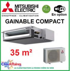 Climatisation Mitsubishi Monosplit Inverter - GAINABLE COMPACT - R32 - SEZ-M35DA + SUZ-M35VA (3.5 kW)