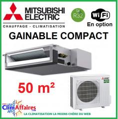 Climatisation Mitsubishi Monosplit Inverter - GAINABLE COMPACT - R32 - SEZ-M50DA + SUZ-M50VA (5.0 kW)