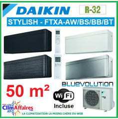 Daikin - Fiche énergétique - FTXA50AW/S/T + RXA50B + WIFI (5.0 kW)