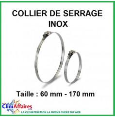 Collier de serrage en inox (Taille: 60 mm - 170 mm)