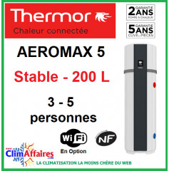 Chauffe Eau Thermodynamique THERMOR - AEROMAX 5 - STABLE - 200 litres