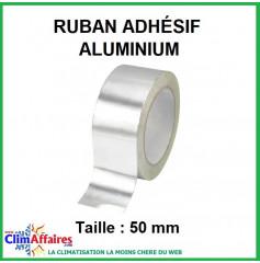 Ruban adhésif aluminium épaisseur 40µ (Taille : 50 mm)