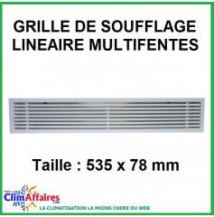 Grille de soufflage linéaire multifentes - 535x78 mm