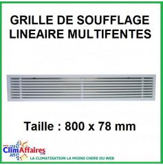 Grille de soufflage linéaire multifentes - 800x78 mm