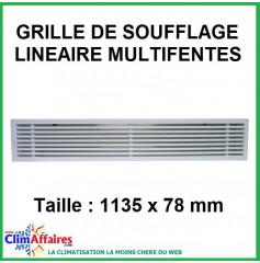 Grille de soufflage linéaire multifentes - 1135x78 mm