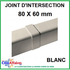 Joint d'Intersection pour raccord goulotte 80x60 mm - Blanc