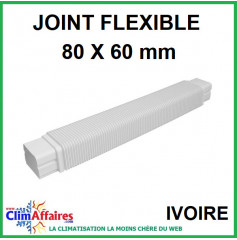 Joint Flexible 590 mm pour raccord goulotte 80x60 mm