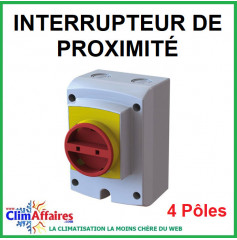 Interrupteur Sectionneur Isolator - 4 pôles - IP 66 (20 à 63 Ampères)