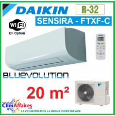 Daikin Climatisation Inverter Réversible - SENSIRA BLUEVOLUTION - R32 - FTXF20C + RXF20C (2.0 kW)