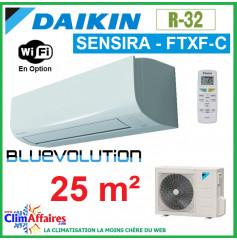 Daikin Climatisation Inverter Réversible - SENSIRA BLUEVOLUTION - R32 - FTXF25C + RXF25C (2.5 kW)