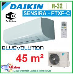 Daikin Climatisation Inverter Réversible - SENSIRA BLUEVOLUTION - R32 - FTXF42C + RXF42C (4.2 kW)