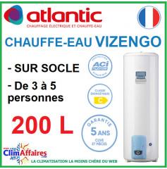 Chauffe-Eau Électrique Atlantic - Gamme VIZENGO - Vertical sur Socle - 200 Litres