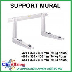 Support mural avec traverse (jusqu'à 140 kg)