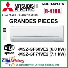 Mitsubishi Unités Intérieures Mural - SPECIALE GRANDES PIECES - R410A - MSZ-GF60VE2 / MSZ-GF71VE2