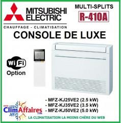Mitsubishi Unité Intérieure Climatisation - CONSOLE LUXE - R410A - MFZ-KJ25VE2 / MFZ-KJ35VE2 / MFZ-KJ50VE2