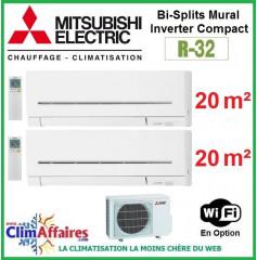 Mitsubishi Electric Multi-Split Standard - Bi-Splits - R32 - MXZ-2F42VF3 + 2 x MSZ-AP20VGK + WIFI (4.2 kW)