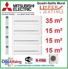 Mitsubishi Electric Hyper Heating - Quadri-Splits - R410A - MXZ-4E83VAHZ + MSZ-AP35VGK + 3 x MSZ-AP15VGK + WIFI (8.3 kW)
