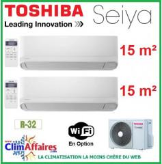 Toshiba Bi-Splits - SEIYA - R32 - RAS-2M10U2AVG-E + 2 x RAS-B05J2KVG-E (3.3 kW)