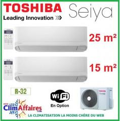 Toshiba Bi-Splits - SEIYA - R32 - RAS-2M14U2AVG-E + RAS-B10J2KVG-E + RAS-B05J2KVG-E (4.0 kW)