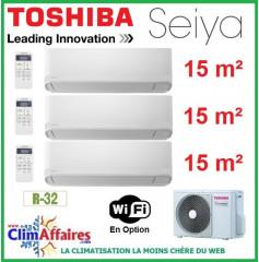 Toshiba Climatisation Tri-Splits - SEIYA - R32 - RAS-3M18U2AVG-E + 3 x RAS-B05J2KVG-E (5.2 kW)