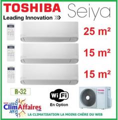 Toshiba Climatisation Tri-Splits - SEIYA - R32 - RAS-3M18U2AVG-E + 2 x RAS-B05J2KVG-E + RAS-B10J2KVG-E (5.2 kW)