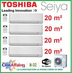 Toshiba Climatisation Quadri-Splits - SEIYA - R32 - RAS-4M27U2AVG-E + 4 x RAS-B07J2KVG-E (8.0 kW)