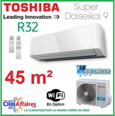 Toshiba Climatisation Mural Inverter - Super Daiseikai 9 - R32 - RAS-16PAVPG-E + RAS-16PKVPG-E (4.5 kW)