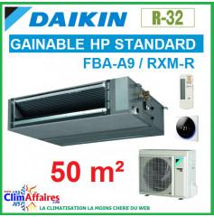 Daikin Climatisation Inverter - GAINABLE HP STANDARD - R32 - FBA50A9 + RXM50R (5.0 kW)