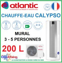 Chauffe-Eau Thermodynamique Atlantic - SPLIT INVERTER - Gamme CALYPSO CONNECTÉ - Vertical Mural - 200 Litres
