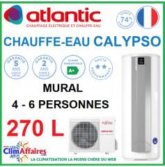 Chauffe-Eau Thermodynamique Atlantic - SPLIT INVERTER - Gamme CALYPSO CONNECTÉ - Vertical Mural - 270 Litres