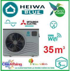 Pompe à chaleur pour piscine HEIWA Blue - FULL INVERTER - HBHP35V1 - 7.24 kW (35 m³)