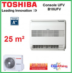 Toshiba - Console Double Flux UFV - RAS-B10UFV-E1 + RAS-10N3AV2-E1 (2.5 kW)