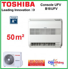Toshiba - Console Double Flux UFV - RAS-B18UFV-E1 + RAS-18N3AV2-E (5.0 kW)