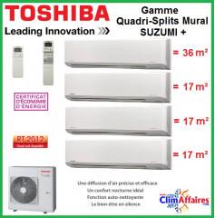 Toshiba Quadri-Splits Suzumi + - RAS-4M27S3AV-E + 3 x RAS-M07N3KV2-E1 + RAS-B16N3KV2-E1 (8.0 kW)
